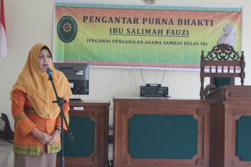 Pengantar Purna Bhakti Pegawai Pengadilan Agama Sambas