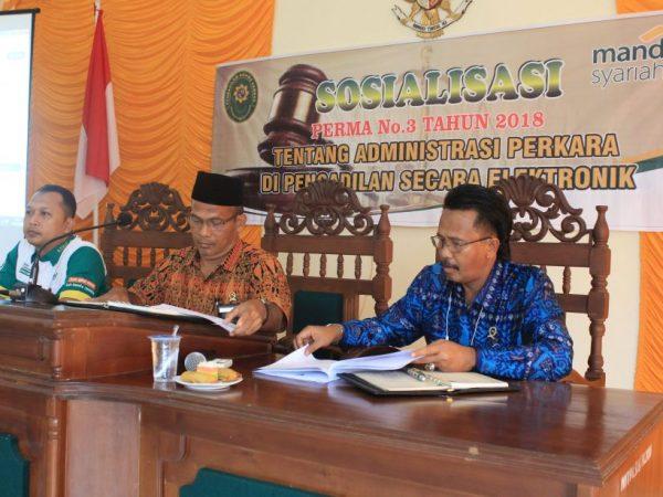 Implementasikan E-Court, PA Sambas dan BSM Jalin Kerjasama Sosialisasikan Perma 3 Tahun 2018