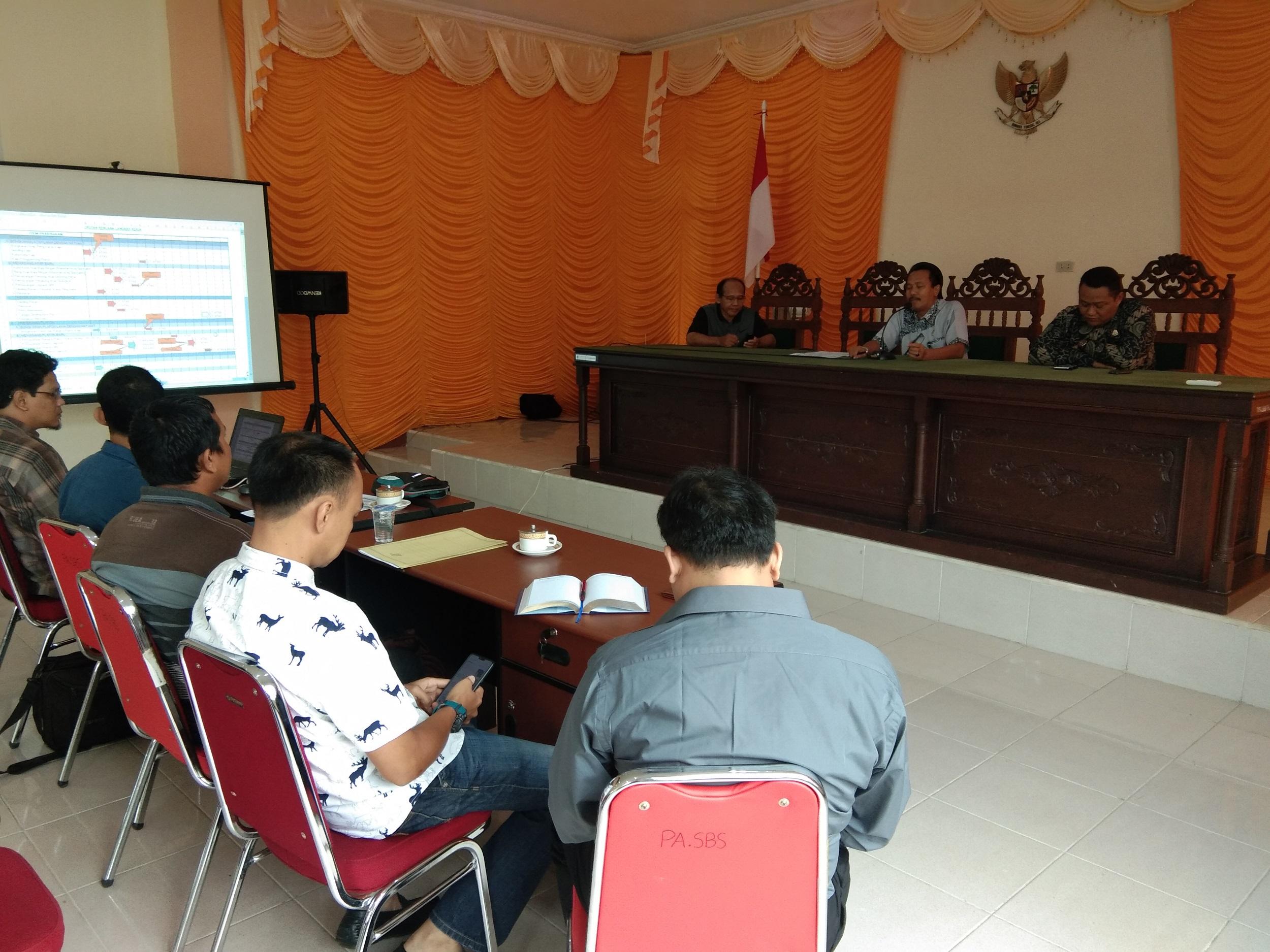Rehab Atap dan Tata Ruang Gedung PA, Owner dan Pelaksana Lakukan Pre Construction Meeting (PCM)